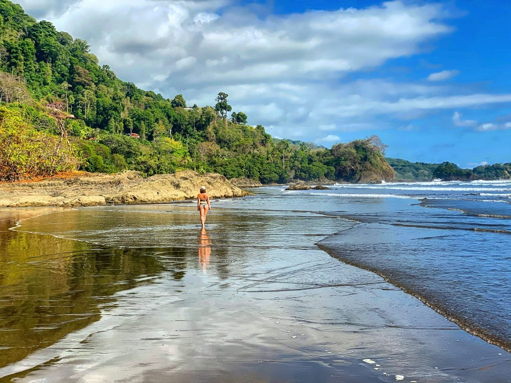 Dominical beach in the afternoon  - Costa Rica