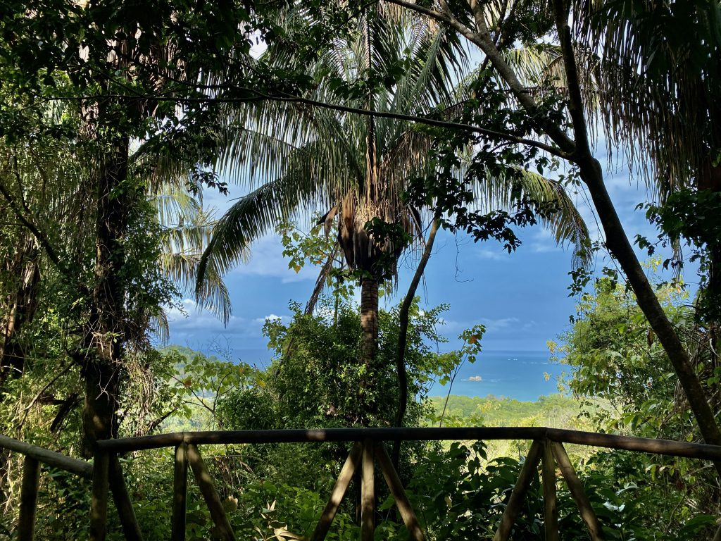 Viewpoint overlooking Manuel Antonio National Park