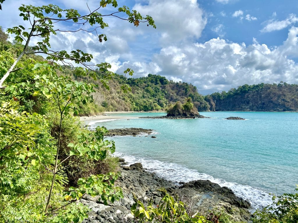 Viewpoint overlooking one of the beach of Manuel Antonio National Park