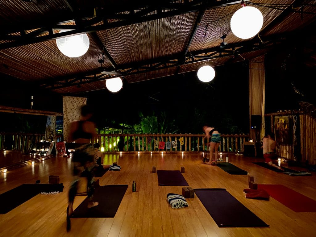 Evening yoga class in ecolodge Danyasa - Dominical Costa Rica