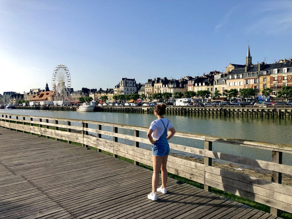 View of Trouville-sur-Mer on a sunny day