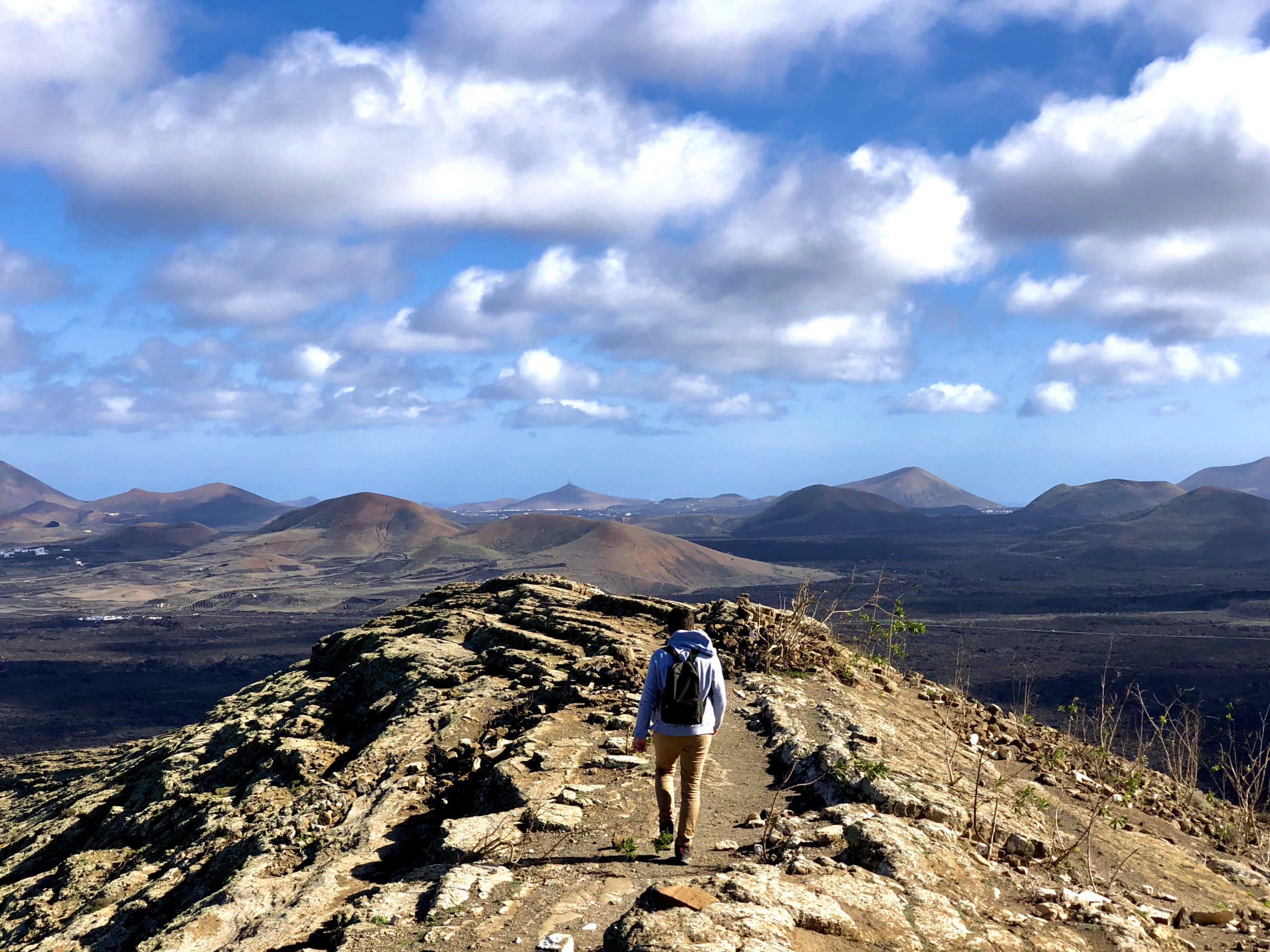 Canary island hiking in Lanzarote