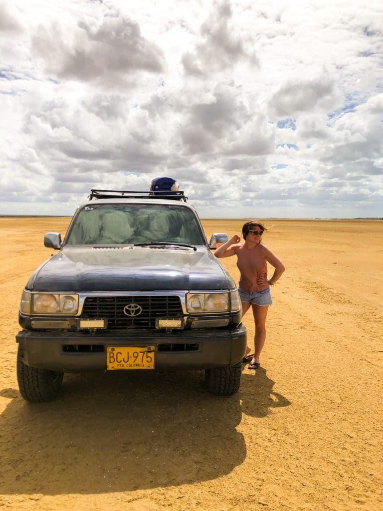 A 4W is mandatory to explore the desert of La Guajira