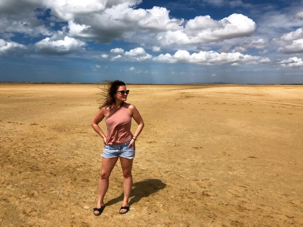 Alexandra in the desert of la Guajira
