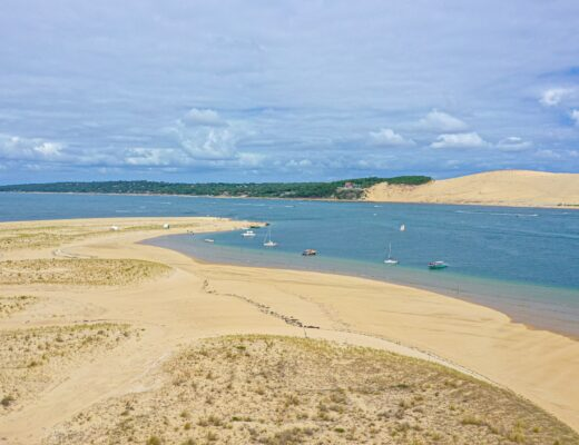 View over the Dune of Pilat from the Banc d'Arguin