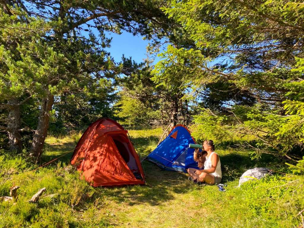 Bivouacking in the Pilat Regional Park