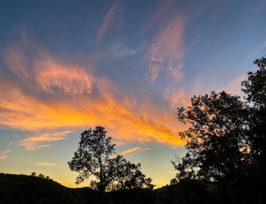 Sunset over the Cévennes National Park