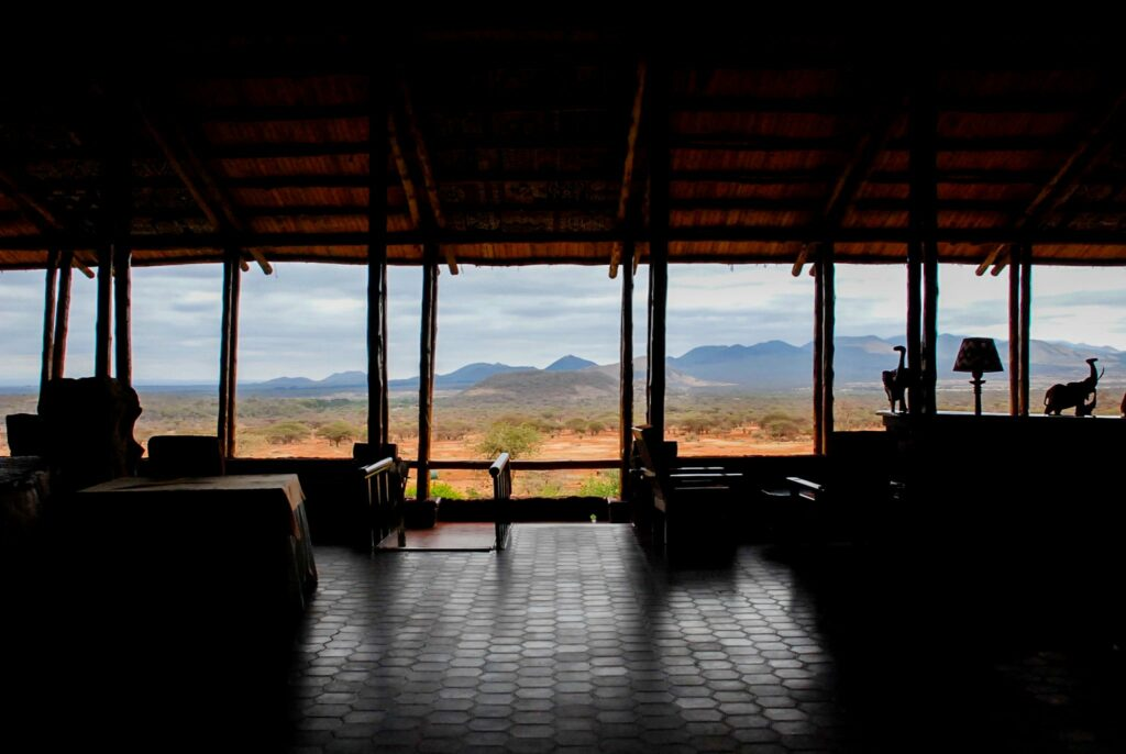 Serena Kilaguni lodge - best viewpoint in Tsavo West National Park