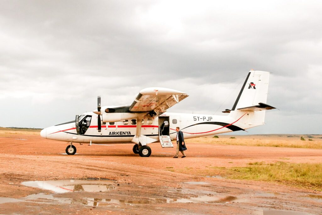 A small plane of Air Kenya