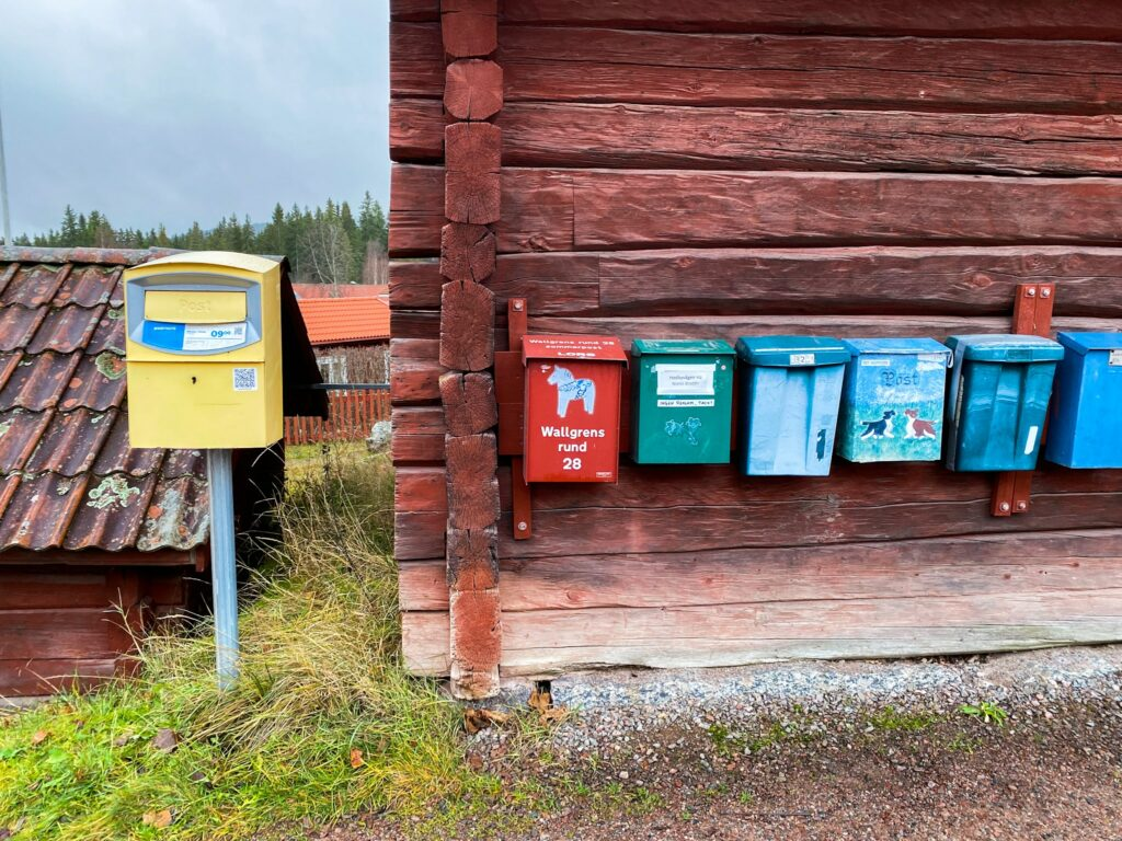 Letterbox in the villages of Dalarna