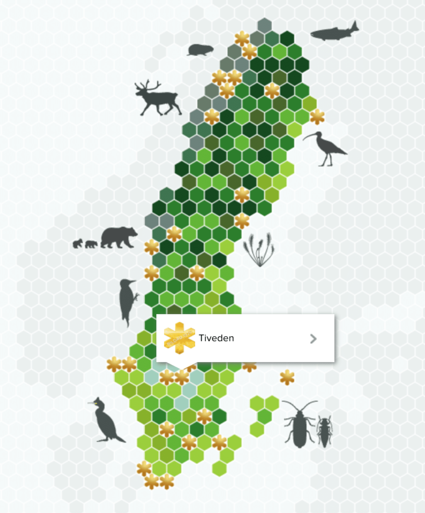 map of the Swedish National Parks