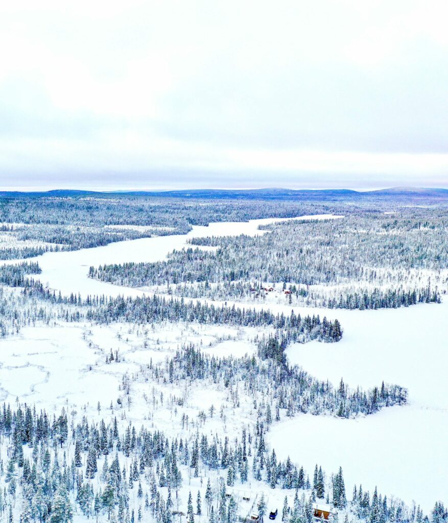 Drone view over Skaulo's lake