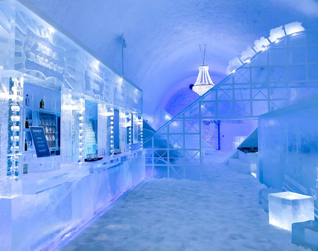 The bar of the Ice Hotel