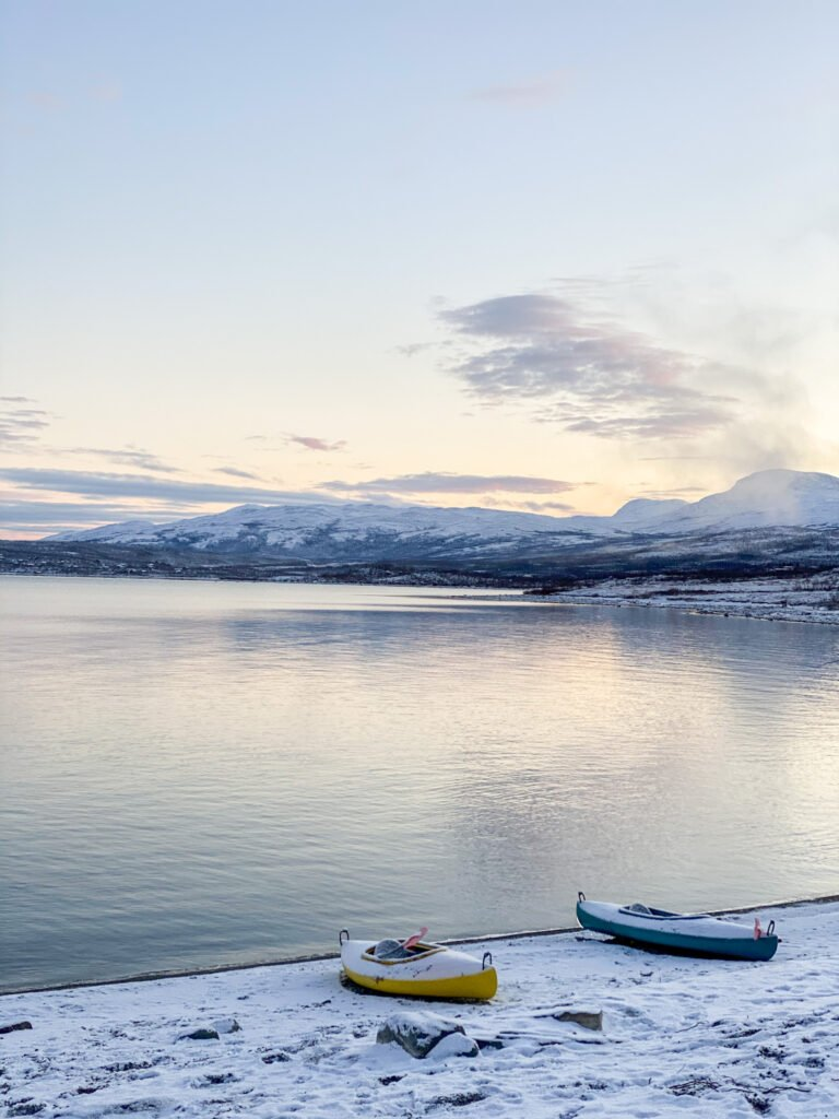 Some canoë in Abisko National Park - not available in wintertime!